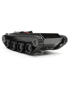 Black Tracked Robot Chasis