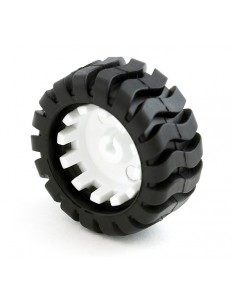 42 mm White Wheel with Black Rubber for N20 Motors
