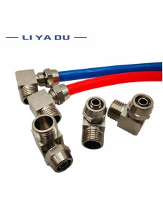 """Pneumatic Tube connected 90 degrees Male Thread Air Hose 1/4"""" 1/8"""" 6MM 4MM"""