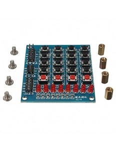 4*4 Matrix Keypad Module + 4 Keyboard + 8 LED Indicator
