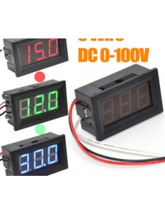 0.56'' 3 Wire DC0-100V LED Digital Display Voltage Panel Meter Voltmeter