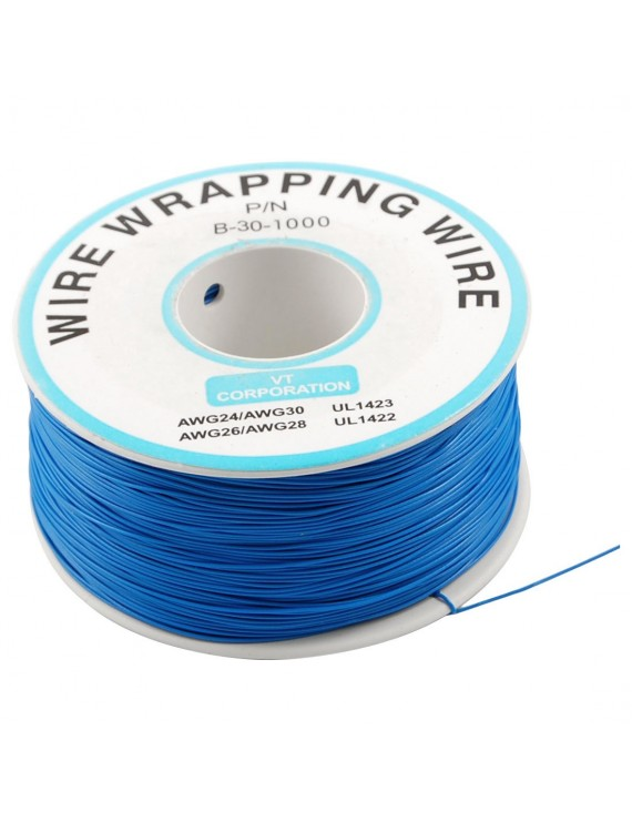 1 m Blue Wire Mini Roll 0.5 mm external diameter x 0.25 mm internal diameter