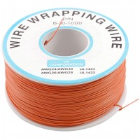 200 m Red Wire Mini Roll 0.5 mm external diameter x 0.25 mm internal diameter