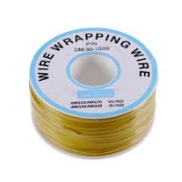 200 m Yellow  Wire Mini Roll 0.5 mm external diameter x 0.25 mm internal diameter