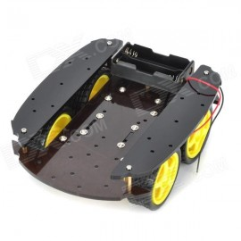 Smart car chassis (4-wheel body)4WD / 4 Wheel Drive car chassis lightweight handling robot)