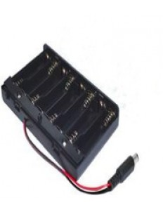 8AA Batteries Storage Box Holder