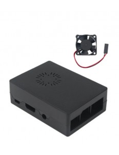 Black Acrylic Case with Cooling fan Fit for Raspberry Pi 4
