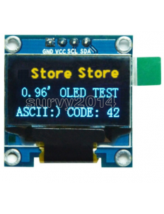 "OLED 0.96"" I2C IIC Interface OLED Screen Blue and yellow Color"