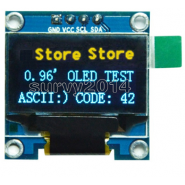 """OLED 0.96"""" I2C IIC Interface OLED Screen Blue and yellow Color"""